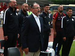 May 31, 2018 - London, England, United Kingdom - Mustafa Boratas Head Coach of Northern Cyprus.during Conifa Paddy Power World Football Cup 2018  Group B match between Northern Cyprus against Karpatalya at Queen Elizabeth II Stadium (Enfield Town FC), London, on 31 May 2018  (Credit Image: © Kieran Galvin/NurPhoto via ZUMA Press)