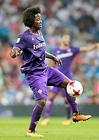 ACF Fiorentina's Carlos Sanchez during Santiago Bernabeu Trophy. August 23,2017. (ALTERPHOTOS/Acero)