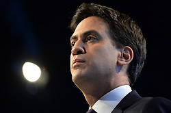 Ed Miliband Keynote Speech. <br /> Labour leader Ed Miliband delivering his Keynote speech to the Labour Party Conference delegates at the Brighton Conference Centre, Brighton, United Kingdom. Tuesday, 24th September 2013. Picture by Andrew Parsons / i-Images