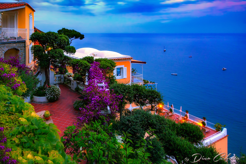 """Dusk falls on Hotel California in Positano""…<br />
