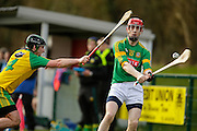 NHL Division 2B at Trim, 6th March 2016<br /> Meath vs Donegal<br /> Stephen Clynch  (Meath) & Shane Gallen (Donegal)<br /> Photo: David Mullen /www.cyberimages.net / 2016