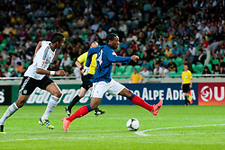 Anthony Martial of France vs Marian Sarr of Germany during the UEFA European Under-17 Championship Group A match between Germany and France on May 10, 2012 in SRC Stozice, Ljubljana, Slovenia. Germany defeated France 3:0. (Photo by Matic Klansek Velej / Sportida.com)