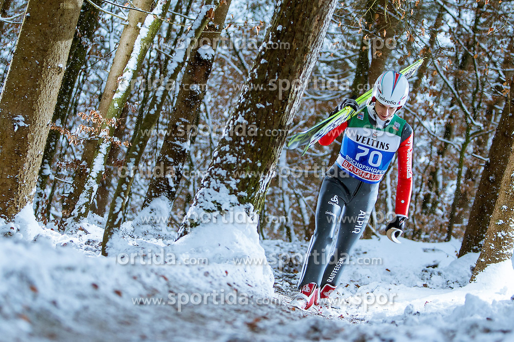 05.01.2015, Paul Ausserleitner Schanze, Bischofshofen, AUT, FIS Ski Sprung Weltcup, 63. Vierschanzentournee, Training, im Bild Simon Ammann (SUI) // during Training of 63rd Four Hills <br /> Tournament of FIS Ski Jumping World Cup at the Paul Ausserleitner Schanze, Bischofshofen, Austria on 2015/01/05. EXPA Pictures &copy; 2015, PhotoCredit: EXPA/ JFK