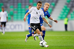 Marc Oliver Kempf of Germany vs Emil Asmundsson of Iceland during the UEFA European Under-17 Championship Group A match between Iceland and Germany on May 7, 2012 in SRC Stozice, Ljubljana, Slovenia. Germany defeated Iceland 1-0. (Photo by Vid Ponikvar / Sportida.com)