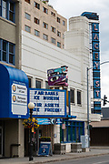 "Fairbanks Ice Museum: ""Our assets are frozen!"". Fairbanks, Alaska, USA. The Lacey Street Theatre building, now hosting the Fairbanks Ice Museum, is an Art Deco architectural showpiece theatre located at 500 Second Avenue in Fairbanks, Alaska. It was designed by noted theatre designer B. Marcus Priteca, and built in 1939 by C.W. Hufeisen for Austin E. ""Cap"" Lathrop. To license this Copyright photo, please inquire at PhotoSeek.com."