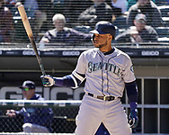 CHICAGO - APRIL 25:  Robinson Cano #22 of the Seattle Mariners bats against the Chicago White Sox on April 25, 2018 at Guaranteed Rate Field in Chicago, Illinois.  (Photo by Ron Vesely)   Subject:   Robinson Cano