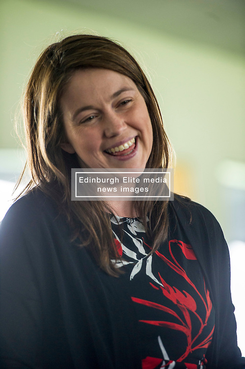 Pictured: Aileen Campbell, Scottish Minister for Sport, just made it justin time to catch the end of Scotland's innings<br /> <br /> Scotland took on Pakistan at the second of two T20 matches scheduled for Wednesday at the Grange, Edinburgh, <br /> <br /> Ger Harley | EEm 13 June 2018