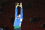 Bradford City goalkeeper Ben Williams  during the Sky Bet League 1 match between Bradford City and Barnsley at the Coral Windows Stadium, Bradford, England on 26 January 2016. Photo by Simon Davies.