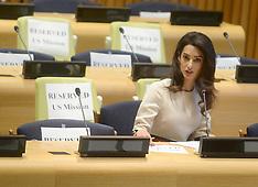 New York: Amal Clooney International human rights lawyer, 16 September 2016