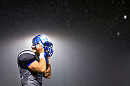 December 19, 2015 - Saddleback Valley Christian junior Matthew Bunnel removes his helmet during a disappointing end to their undefeated season in the CIF State Championship game against St. Bernard's at Laguna Hills High School in Laguna Hills, CA.