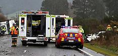 Rotorua-Serious crash between truck and car, Horohoro