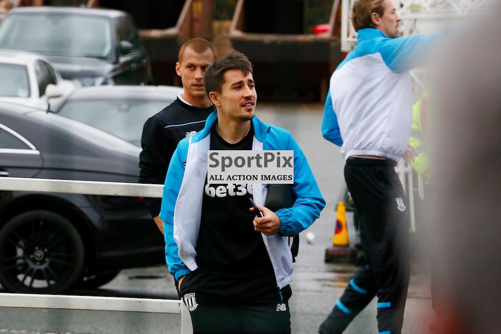 Bojan arrives at the Britannia befre Stoke City v Manchester United, Barclays Premier League, Saturday 26th December 2015, Britannia Stadium, Stoke