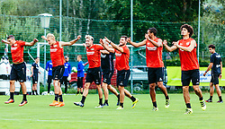 29.07.2016, Alois Latini Stadion, Zell am See, AUT, Bayer 04 Leverkusen, Trainingslager, im Bild Kyriakos Papadopoulos (Bayer 04 Leverkusen), Joel Pohjanpalo (Bayer 04 Leverkusen), Kevin Kampl (Bayer 04 Leverkusen), Kevin Volland (Bayer 04 Leverkusen), Malcolm Cacutalua (Bayer 04 Leverkusen), Andre Ramalho (Bayer 04 Leverkusen) // during the Trainingscamp of German Bundesliga Club Bayer 04 Leverkusen at the Alois Latini Stadium in Zell am See, Austria on 2016/07/29. EXPA Pictures © 2016, PhotoCredit: EXPA/ JFK