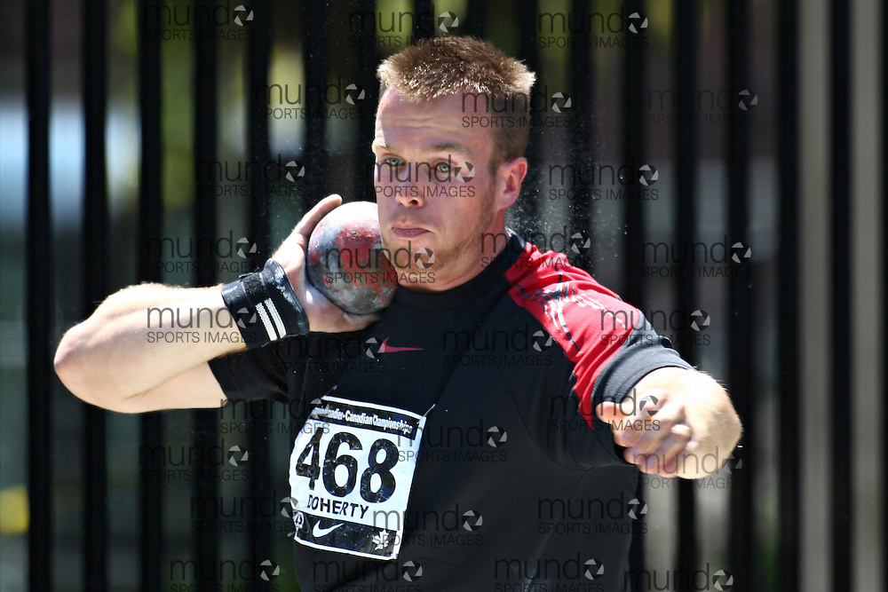(Toronto, Ontario---27/06/09)   Matthew Doherty competing in  shot put at the 2009 Canadian National Track and field Championships. Photograph copyright Claus Andersen / Mundo Sport Images, 2009. www.mundosportimages.com / www.msievents.