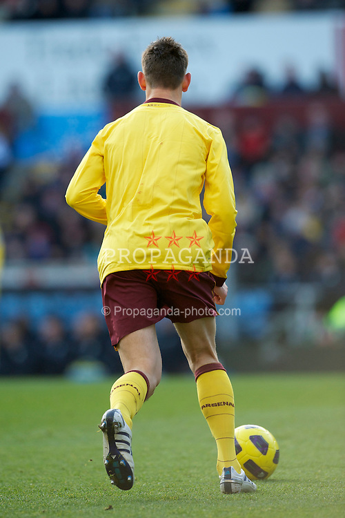 BIRMINGHAM, ENGLAND - Saturday, November 27, 2010: Arsenal's Laurent Koscieiny without a number on his shirt during the Premiership match against Aston Villa at Villa Park. (Pic by: David Rawcliffe/Propaganda)