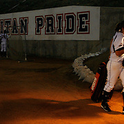 Cal State Fullerton Infielder Christine Hiner slowly drags her athletic bag back to the locker room after losing 0-3 to the University of Northwestern Friday evening at Anderson Family Field.   (WILLIE J. ALLEN JR.)