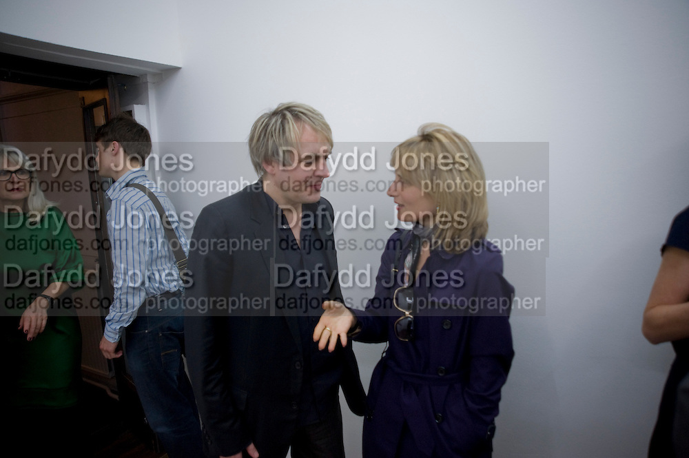 NICK RHODES; VIRGINIA DAMPSTA, Cindy Sherman exhibition. Spruth Magers, London. Grafton st. London. Afterwards at Bellamy's, Bruton Place. 15 April 2009.<br /> NICK RHODES; VIRGINIA DAMPSTA, Cindy Sherman exhibition. Spruth Magers, London. Grafton st. London. Afterwards at Bellamy's, Bruton Place. 15 April 2009.  *** Local Caption *** -DO NOT ARCHIVE-© Copyright Photograph by Dafydd Jones. 248 Clapham Rd. London SW9 0PZ. Tel 0207 820 0771. www.dafjones.com.