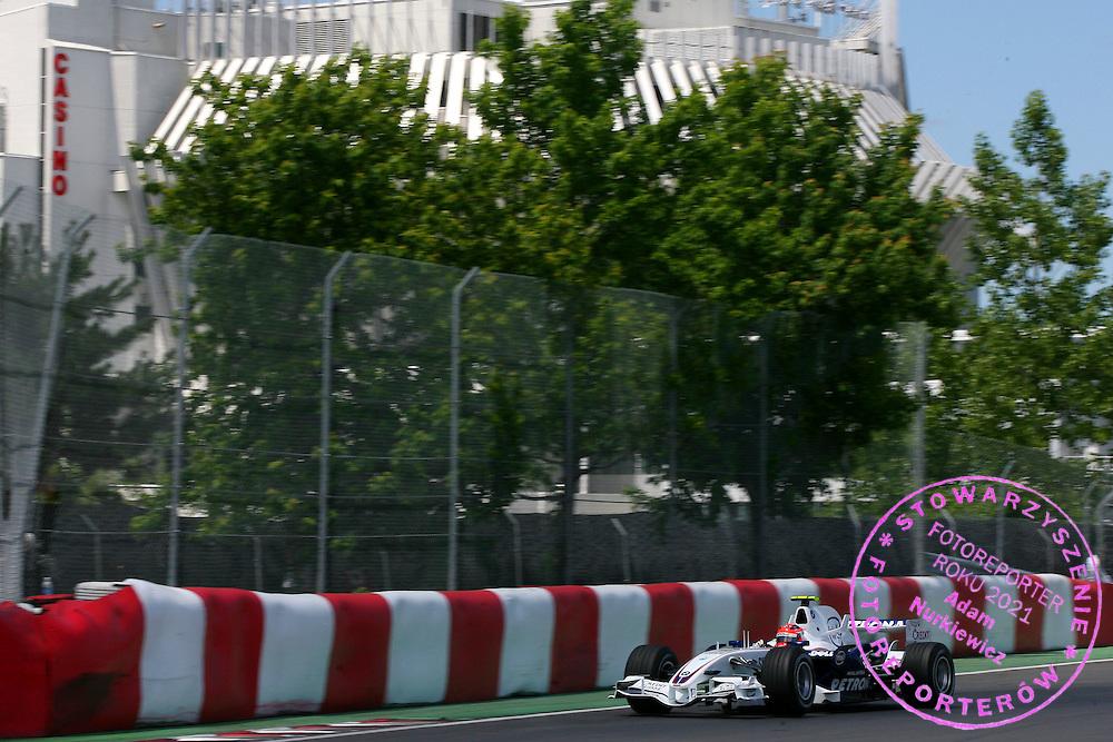 09.06.2007 Montreal, Canada, .Robert Kubica (POL), BMW Sauber F1 Team, F1.07 - Formula 1 World Championship, Rd 6, Canadian Grand Prix, Saturday Qualifying .FOT. XPB.CC / WROFOTO.*** POLAND ONLY !!! ***.NO INTERNET / MOBILE USAGE