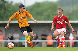 Jake Andrews of Bristol City in action against Keynsham Town - Photo mandatory by-line: Dougie Allward/JMP - Mobile: 07966 386802 - 05/07/2015 - SPORT - Football - Bristol - Brislington Stadium - Pre-Season Friendly