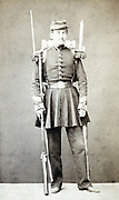 adult man posing in military uniform France 1880s