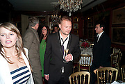 JUERGEN TELLER, Dinner hosted by Elizabeth Saltzman for Mario Testino and Kate Moss. Mark's Club. London. 5 June 2010. -DO NOT ARCHIVE-© Copyright Photograph by Dafydd Jones. 248 Clapham Rd. London SW9 0PZ. Tel 0207 820 0771. www.dafjones.com.