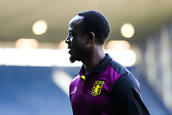 Albert Adomah of Aston Villa looks on as Villa arrive - Rogan/JMP - 14/05/2019 - The Hawthornes - West Bromwich, England - West Bromwich Albion v Aston Villa - Sky Bet Championship Play-Off Semi Final Leg 2.