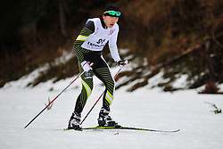 CHOI Bogue Guide:  SEO Jeongryun, KOR at the 2014 IPC Nordic Skiing World Cup Finals - Long Distance