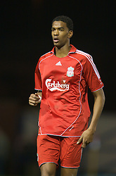 WARRINGTON, ENGLAND - Tuesday, February 26, 2008: Liverpool's Damien Plessis in action against Manchester United during the FA Premiership Reserves League (Northern Division) match at the Halliwell Jones Stadium. (Photo by David Rawcliffe/Propaganda)