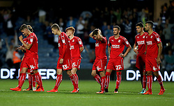 Swindon Town players look dejected after losing on penalties to Queens Park Rangers - Mandatory by-line: Robbie Stephenson/JMP - 10/08/2016 - FOOTBALL - Loftus Road - London, England - Queens Park Rangers v Swindon Town - EFL League Cup