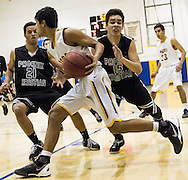 Upper School boys basketball against Phoenix Christian on January 27, 2014.