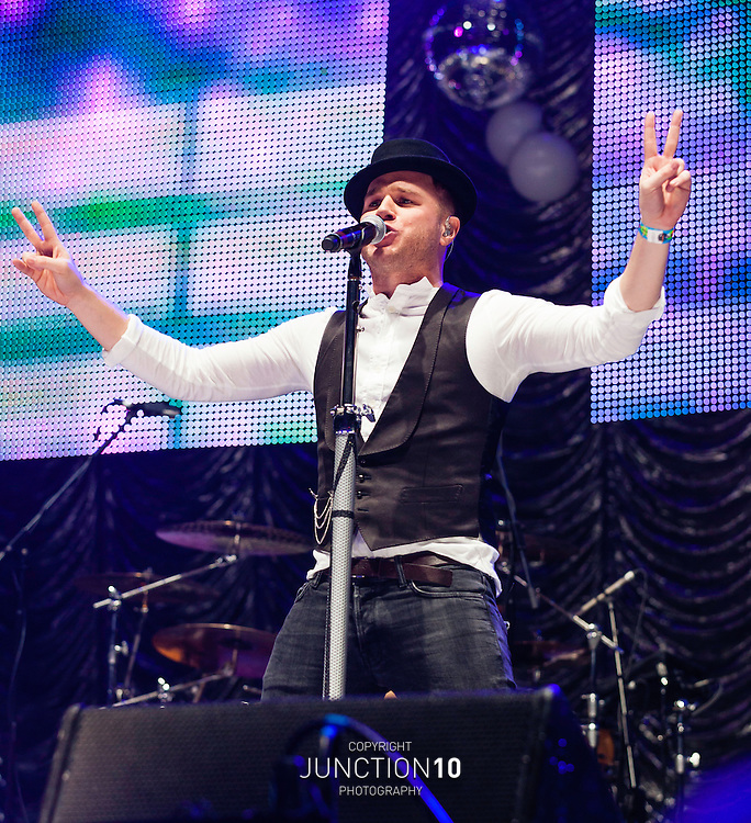 Olly Murs performs at Free Radio Live, at the LG Arena, Birmingham, United Kingdom<br /> Picture Date: 30 November, 2013