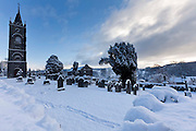 1/12/2010.St Marys Graveyard covered in snow at Thomastown County Kilkenny..Picture Dylan Vaughan.