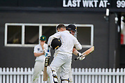 Malcolm Nofal's maiden first-class century on Firebirds debut and Wellington Firebirds sixth wicket first-class record partnership with Luke Woodcock.<br /> Plunket Shield, Wellington Firebirds v Central Stags, Basin Reserve, Saturday 17th March 2018. Copyright Photo: Margot Butcher / www.photosport.nz