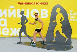 May 26, 2019 - Dnipro, Ukraine - A runner poses for a photo during the 4th Interpipe Dnipro Half Marathon, Dnipro, central Ukraine, May 26, 2019. Ukrinform. (Credit Image: © Mykola Miakshykov/Ukrinform via ZUMA Wire)