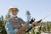 Smiling Man Fishing