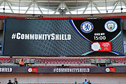 Chelsea v Man City in community shield during the FA Community Shield match between Chelsea and Manchester City at Wembley Stadium, London, England on 5 August 2018.
