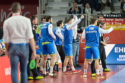 Team of Slovenia during handball match between National teams of Slovenia and Czech Republic on Day 7 in Main Round of Men's EHF EURO 2018, on January 24, 2018 in Arena Varazdin, Varazdin, Croatia. Photo by Mario Horvat / Sportida