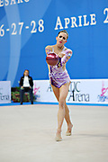 Neta Rivkin during final at ball in Pesaro World Cup at Adriatic Arena on 28 April 2013. Neta was born on June 23, 1991 in Petah Tiqwa Israel. <br />