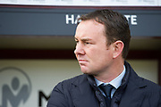 Plymouth Argyle Manager Derek Adams before the EFL Sky Bet League 1 match between Bradford City and Plymouth Argyle at the Northern Commercials Stadium, Bradford, England on 11 November 2017. Photo by Craig Zadoroznyj.