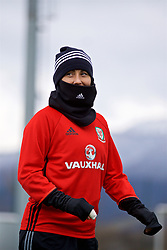 ZENICA, BOSNIA AND HERZEGOVINA - Monday, November 27, 2017: Wales' Natasha Harding during a training session ahead of the FIFA Women's World Cup 2019 Qualifying Round Group 1 match against Bosnia and Herzegovina at the FF BH Football Training Centre. (Pic by David Rawcliffe/Propaganda)