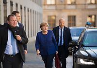 DEU, Deutschland, Germany, Berlin, 30.10.2017: Bundeskanzlerin Dr. Angela Merkel (CDU) vor den Sondierungsgesprächen zwischen CDU/CSU, FDP und Bündnis 90/Die Grünen in der Deutschen Parlamentarischen Gesellschaft.