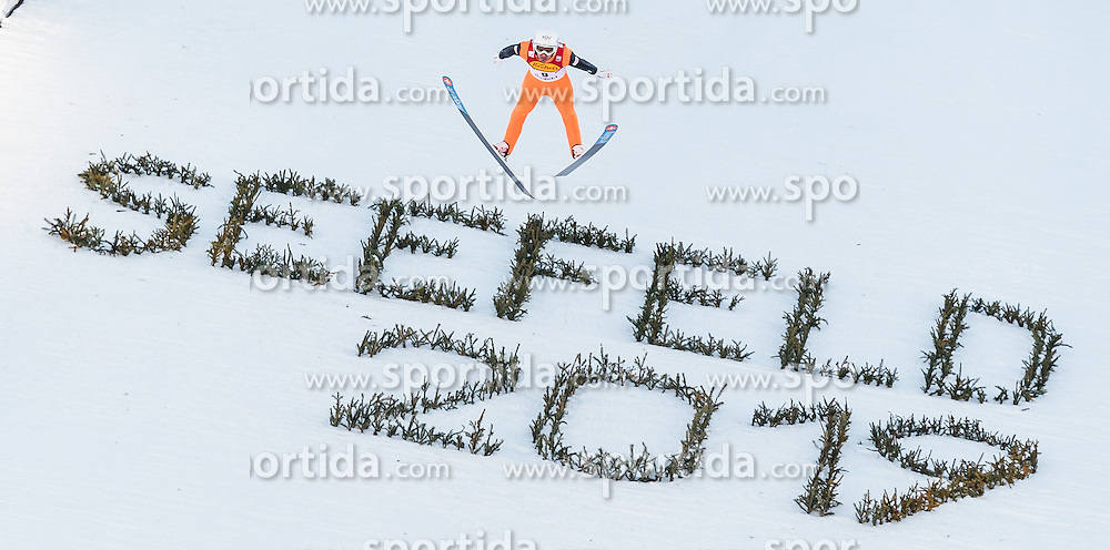 30.01.2016, Casino Arena, Seefeld, AUT, FIS Weltcup Nordische Kombination, Seefeld Triple, Skisprung, Wertungssprung, im Bild Lukas Klapfer (AUT) // Lukas Klapfer of Austria competes during his Competition Jump of Skijumping of the FIS Nordic Combined World Cup Seefeld Triple at the Casino Arena in Seefeld, Austria on 2016/01/30. EXPA Pictures © 2016, PhotoCredit: EXPA/ JFK