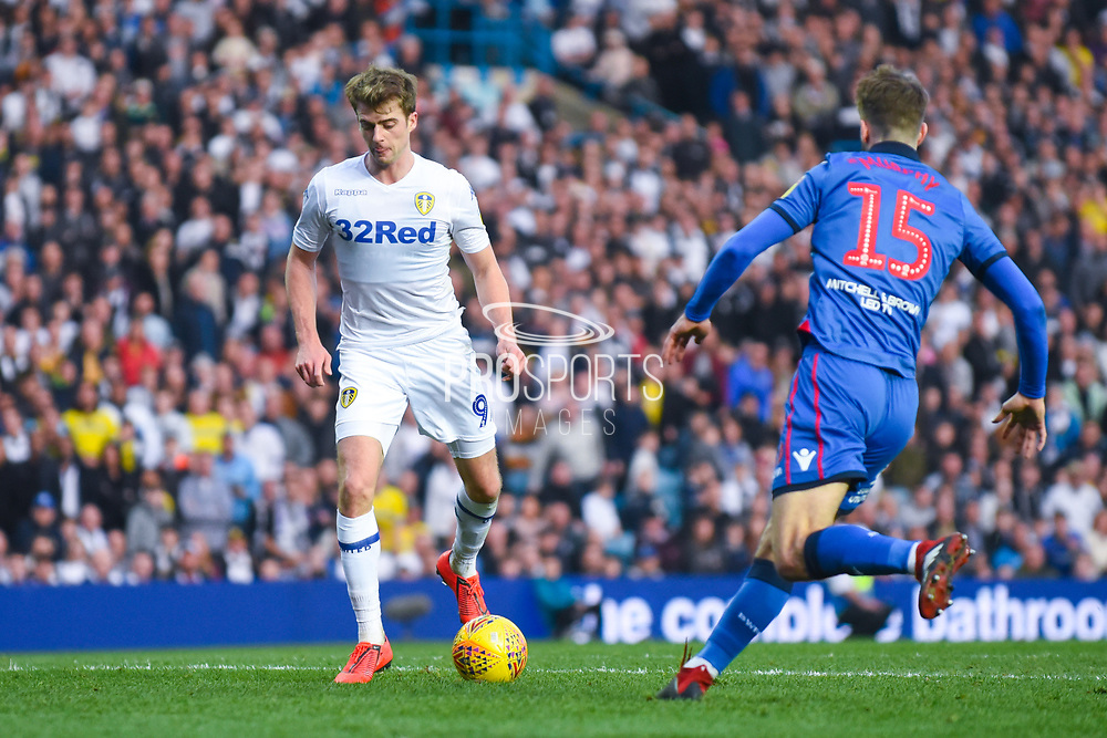Patrick Bamford of Leeds United (9) looks to shoot during the EFL Sky Bet Championship match between Leeds United and Bolton Wanderers at Elland Road, Leeds, England on 23 February 2019.