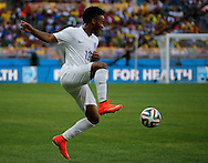 Raheem Sterling of England during the 2014 FIFA World Cup match at Mineir&atilde;o, Belo Horizonte, Brazil. <br /> Picture by Andrew Tobin/Focus Images Ltd +44 7710 761829<br /> 24/06/2014