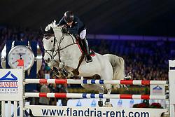 Whitaker Michael, GBR, Flawless<br /> Vlaanderens Kerstjumping<br /> Memorial Eric Wauters<br /> Jumping Mechelen 2017<br /> © Hippo Foto - Dirk Caremans<br /> 29/12/2017