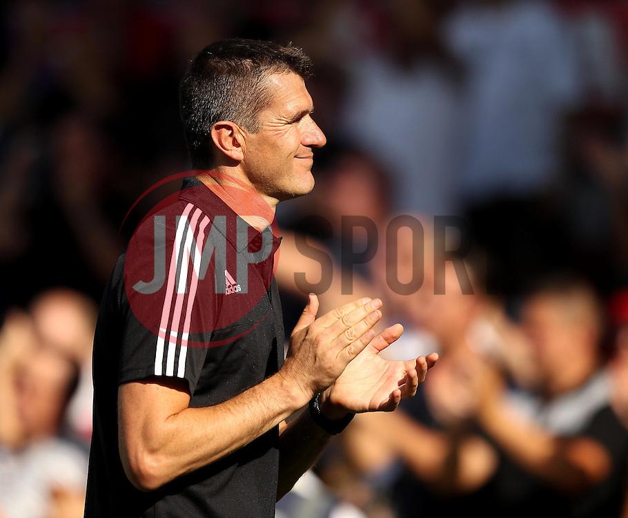 Brentford Head Coach, Marinus Dijkhuizen - Mandatory by-line: Robbie Stephenson/JMP - 07966386802 - 08/08/2015 - SPORT - FOOTBALL - Brentford,England - Griffin Park - Brentford v Ipswich Town - Sky-Bet Championship
