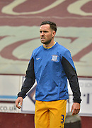 Preston North End Defender, Greg Cunningham warms up on a wet afternoon during the Sky Bet Championship match between Burnley and Preston North End at Turf Moor, Burnley, England on 5 December 2015. Photo by Mark Pollitt.