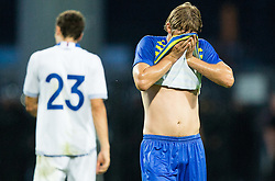 Jaka Stromajer #30 of Luka Koper after the First Leg football match between FC Luka Koper and HNK Hajduk Split (CRO) in Second qualifying round of UEFA Europa League, on July 16, 2015 in Stadium Bonifika, Koper, Slovenia. Photo by Vid Ponikvar / Sportida