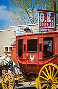 Horse drawn stagecoach at the O.K. Corral, Tombstone, Arizona USA