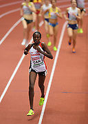 Mar 5, 2017; Belgrade, Serbia; Yasemin Can (TUR)<br /> places second in the women's 3,00m in a national record 8:43.46 during the 34th European Indoor Championships at Kombank Arena. (Jiro Mochizuki/Image of Sport)